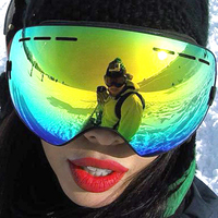 Professional Ski Goggles Double Anti Fog UV CUT Spherical Skiing Eyewear Outdoor Sports Snow goggles Ski Glasses For Men Women