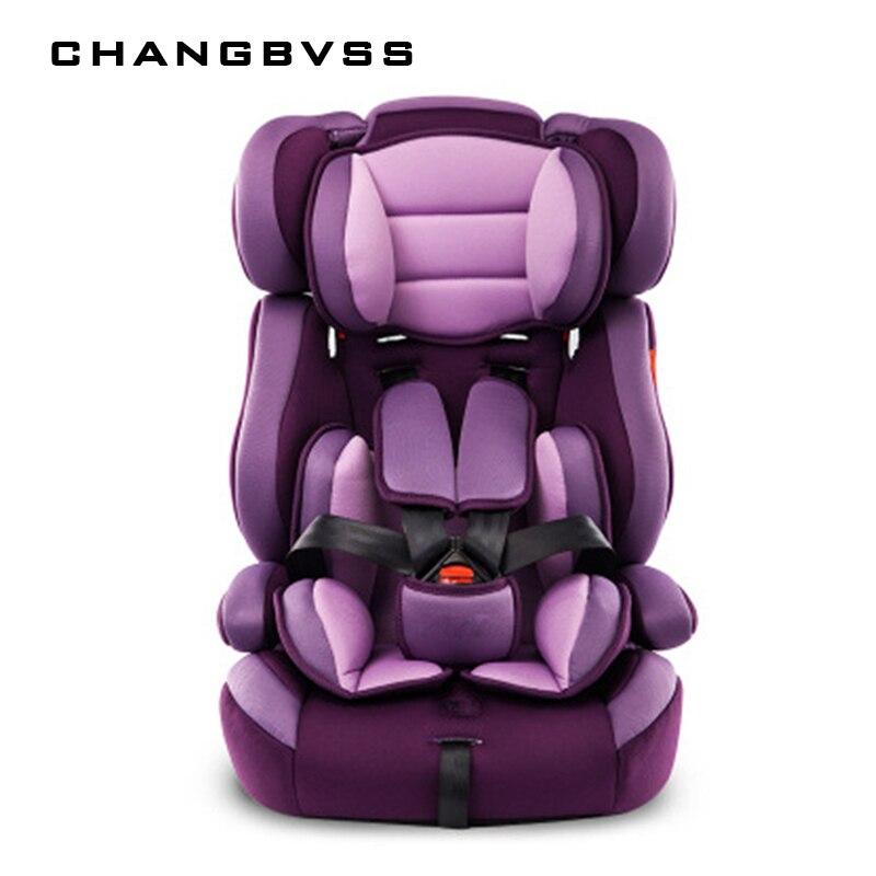 Siège de voiture épais Portable pour enfant et enfants 5 points harnais coussins sûrs pour 9M ~ 12Y enfants avec ceinture de sécurité siège de bébé de sécurité