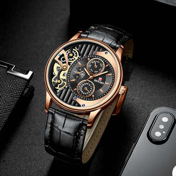 2019 New Dress Business Watch Men Fashion Casual Brown Leather Strap Mens Watches Top Brand Luxury Unique Quartz Wristwatch - DISCOUNT ITEM  30% OFF All Category