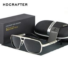HDCRAFTER Oversize Square Sunglasses Brand Designer Retro Men Gradient Lens Sun Glasses UV400 Oculos De sol