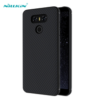 Nillkin Black Hard Case For LG G6 Carbon Fiber Ultra Thin Back Cover Durable Phone Bag