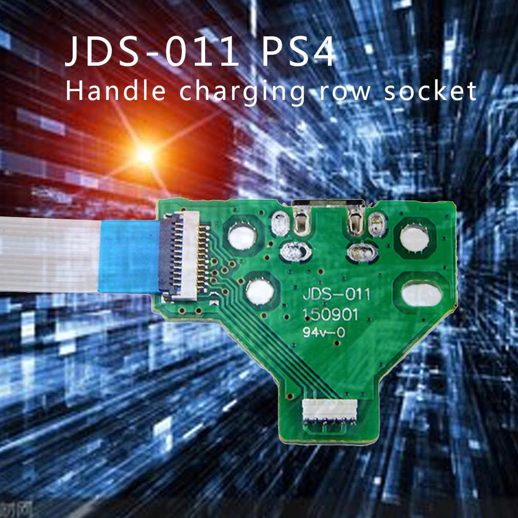 JDS 011 Handle charging socket switch board 12PIN cable Module for ps4 dropshipping-in Gamepads from Consumer Electronics
