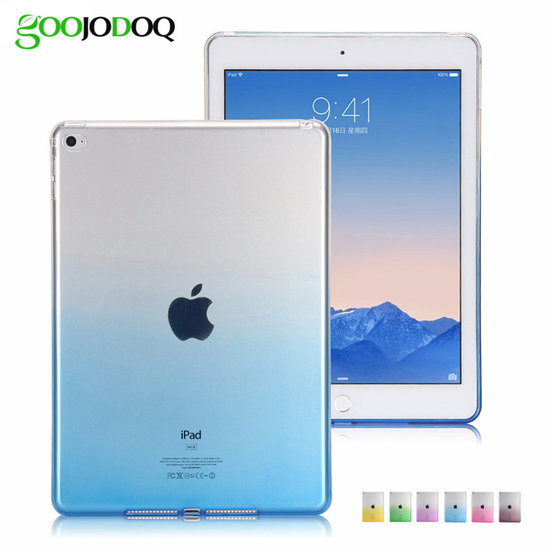 Для iPad 2/3/4 ультра тонкий Градиент красочный мягкий чехол ТПУ оболочки кремния Защитная пленка для iPad мини 1 2 3 Tablet чехол Коке