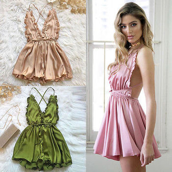 Fashion Women Sexy Sleepwear Style Jumpsuit Rompers Clubwear Playsuit Trousers 3 color 1
