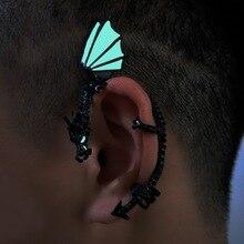 GLOW in the DARK Gothic Rock Punk Twine Dragon Shape Ear Cuff