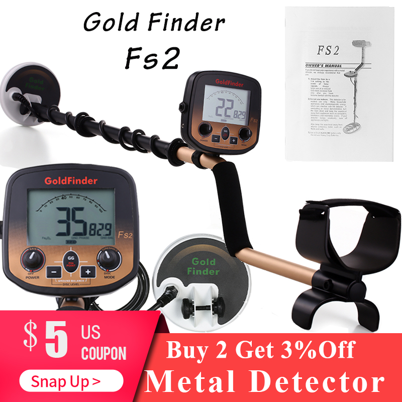 Professional Metal Detector FS2 Underground Depth 3m Scanner Search Finder Gold Detector Treasure Hunter Detecting Pinpointer