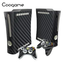Carbon Fiber Decals For Microsoft Xbox 360 Fat Console Games Stickers For Xbox 360Fat Game Accessories
