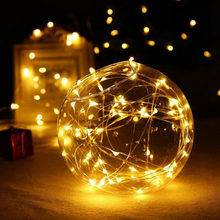 1/2/5/10M LED Light String Garland Battery Powered Holiday Fairy Lights For Christmas Wedding Party Decoration(China)