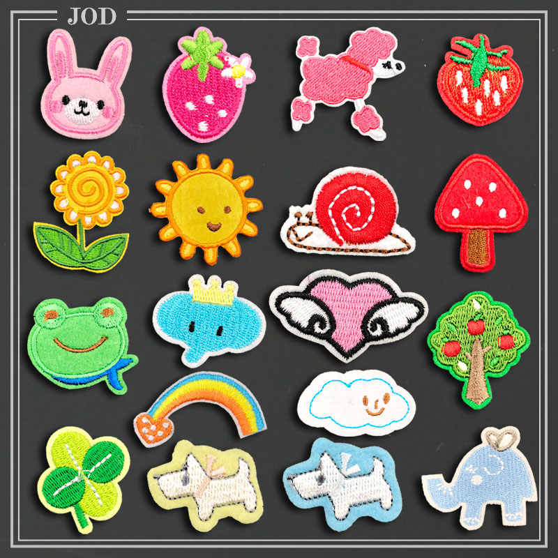 Mini Small Children Cartoon Patches for Clothing Bag Iron on Patch Applique Sew on Stickers Accessories Badges Kids Garment DIY