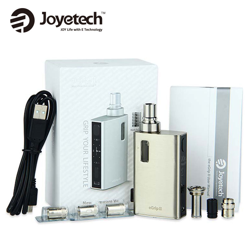 Original 80W Joyetech eGrip II Vaping Starter Kit with 2100mAh and 2ml 3 5ml eGrip 2