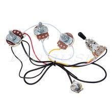 Набор проводов для электрогитары, трехходовой переключатель 2V1T 500K, открытый переключатель с монтажной гайкой и переключатель, наконечник и...