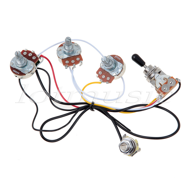 one set of electric guitar wiring harness 3 way 2v1t 500k open rh aliexpress com Engine Wiring Harness Truck Wiring Harness