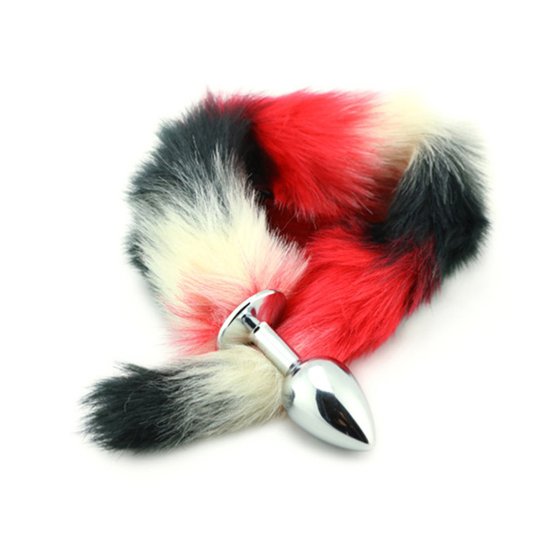 Qise Anus Sexy Toys For Women & Men, Artificial Tail Hair Metal, Adult Erotic Anal Sex Toys