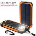 Poverbank Solar Mobile Power Bank Externo Portátil Carregador Solar Do Telefone Celular Bateria 10000 mah Universal para ao ar livre