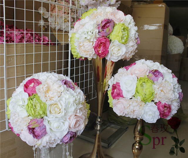 Spr free shipping10pcslot wedding table flowers ball centerpiece spr free shipping10pcslot wedding table flowers ball centerpiece decoration artificial flower wall junglespirit Gallery