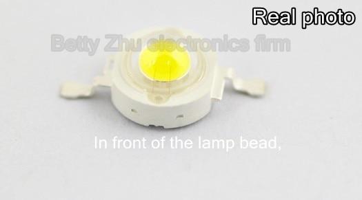 Светодиодные лампы высокой мощности, 100 шт./лот, 1 Вт, 1 Вт, бисер (90-100 лм), круглые светильники для самостоятельного изготовления, 6000-6500 К, белый...