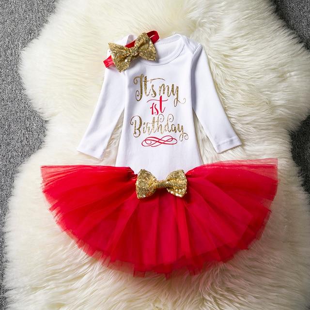 b3ea6c238a574 Bébé fille vêtements ensembles 1 an anniversaire tenue bébé infantile fête  porter nouveau-né bébé