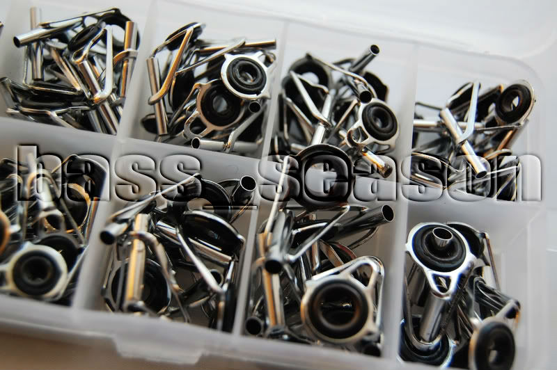 Free shipping 90 pcs fishing rod guide tip repair kit rod for Replacement eyes for fishing rods