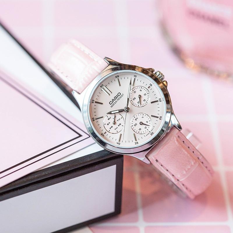 Casio Watch Pointer series three eyes timing quartz watch LTP-V300L-4A casio watch fashion business three waterproof steel ladies ltp 2087gl 1a ltp 2087gl 4a ltp 2087gl 5a ltp 2087l 4a ltp 2087g 4a