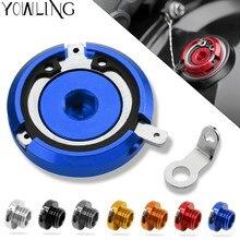 M20*2.5 Motorbike CNC Engine Oil Filler Cup Cap Plate Brake Bracket for Honda Hornet CB900 CB 900 ducati 749 848 999