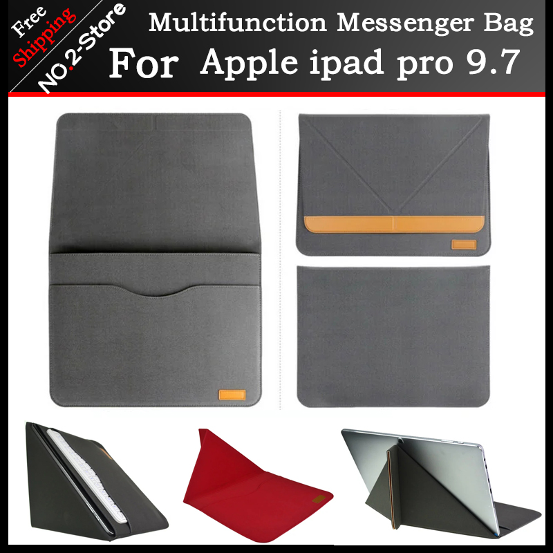 New design high quality PU Sleeve Messenger Bag Case For apple ipad pro 9.7 Tablet PC ,Stand case for ipad air 1/2/3/4