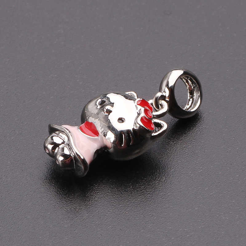 7e7f2cf69 ... AIFEILI 2018 Silver Color Hello Kitty Charm Beads Fit Original Pandora  Bracelet Pendant Authentic DIY Jewelry