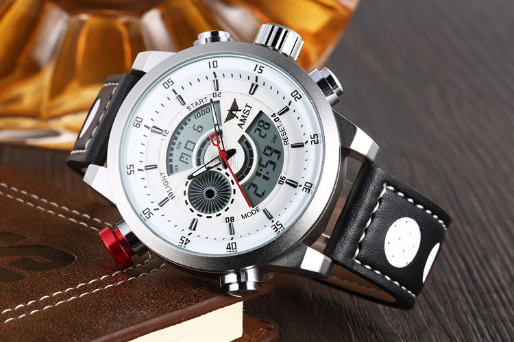 Luxury Brand AMST Watches Men Quartz LED Fashion Military Casual Sports Watch Luxury Brand Relogio Wristwatches