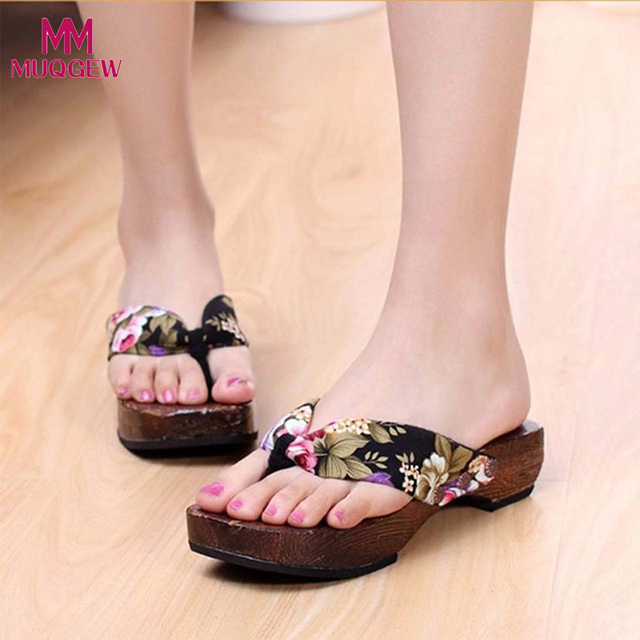 e46ae8b52beef US $5.36 15% OFF|Fashoin Shoes Women Summer Platform Slides Shoes Wood  Ladies Sexy Sandals Clog Wooden Slippers Flip Flops Summer Beach Shoes-in  ...