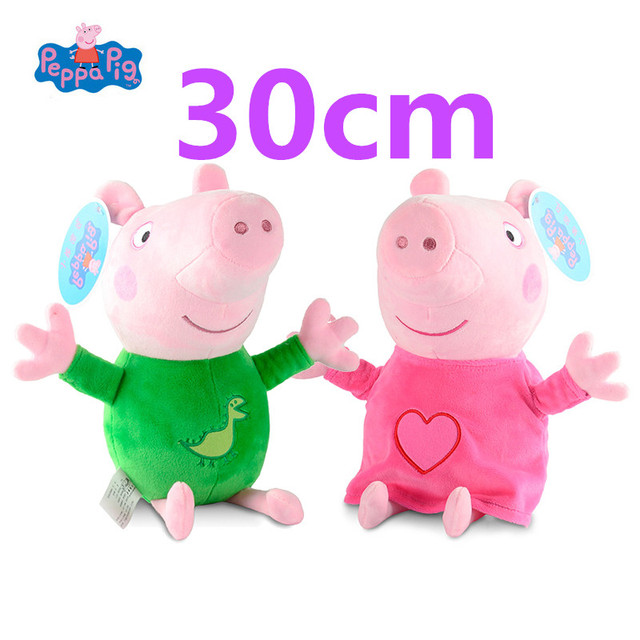 30 cm pijama Peppa George Peppa Pig Brinquedos de Pelúcia Boneca Animal de Pelúcia Brinquedo de pelúcia Para O Miúdo Bonito do Kawaii Brinquedos brinquedo presente