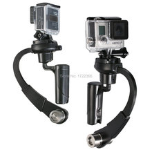 Nueva negro pro handheld steadycam estabilizador steady forma de arco para xiaomi yi cámara Gopro HD Hero 4 3 + 3 2 1 sj4000 Envío Gratis