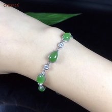 Certified Natural Hetian Jade Jasper Inlaid with 925 Sterling Silver Handmade Fine Lucky Bracelets High Quality Best Gifts