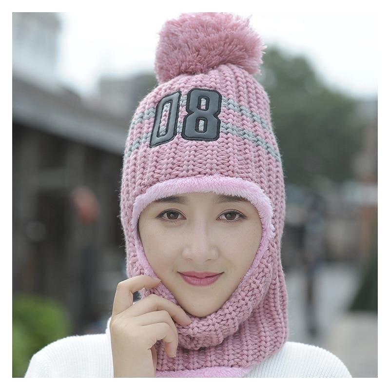 Hat Earmuff Bomber-Hat Ear-Flap Female Winter Women Wool Beanie-Cap Ear-Protection Cycling