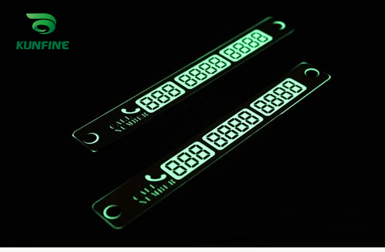 Car Styling Luminous Temporary Parking Card Night Light Phone Number Card Plate