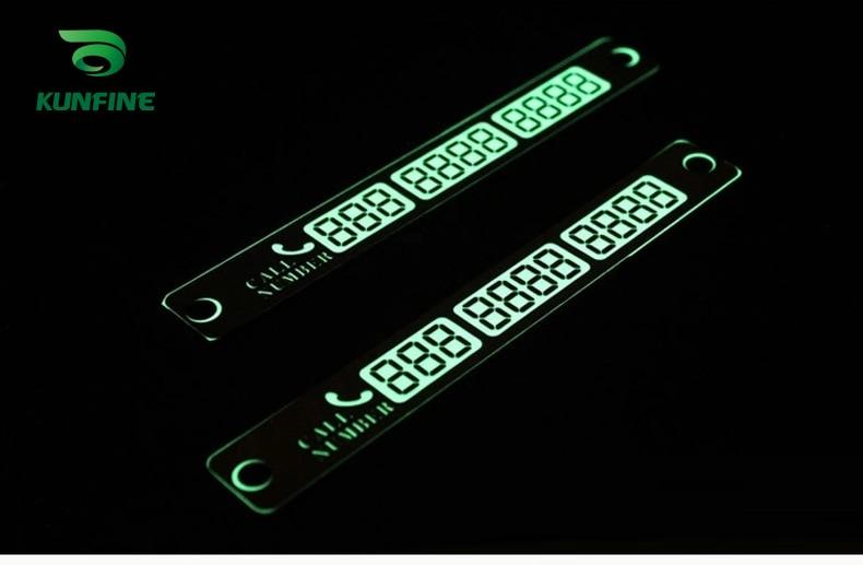 Mobil Styling Bercahaya Kartu Parkir Sementara Lampu Malam Ponsel Nomor Kartu Plat title=