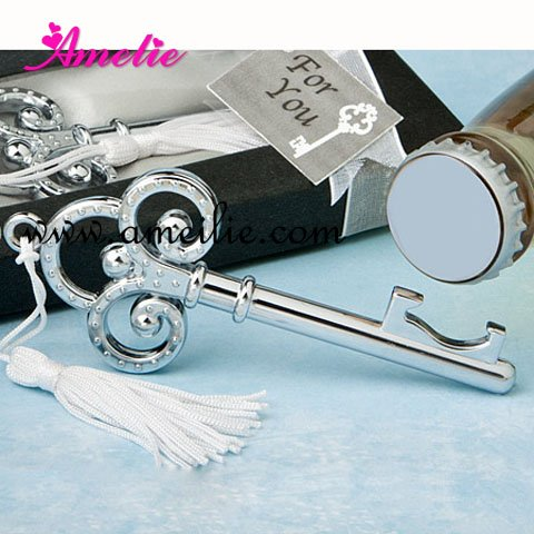 Free Shipping 2012 New Keychain Bottle Opener Wedding Gifts Stopper Favors 20pcs