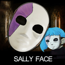 Sally Face Mask Cosplay Mask Sally Masks Game Salli Face Cosplay Costume Accessories Props Sallyface Funny Toys With Free Gift цены онлайн