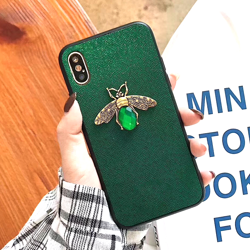 Luxury Fashion brand Diamond Bee Glitter soft case for iphone 6 S 7 8 plus X XR XS Max Cute Hard Cover for iphone 7 8 6S 5 5S SE (7)