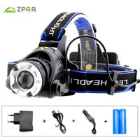 ZPAA Waterproof LED Headlight Torch Head CREE T6 L2 5000LM Rechargeable 18650 Cycling Fishing Hunting Outdoor