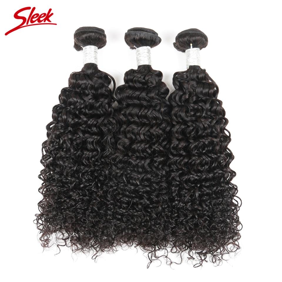 Sleek Hair 3 Bundles Deal Peruvian Curly Human Hair Extention Natural Black 10 To 30 Inch Remy Hair Weave Bundles Free Shipping