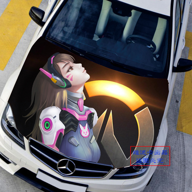 Custom made car accessories japanese car stickers decals 3d anime game overwatch ow d va