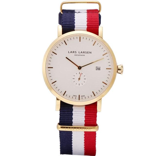 2c8cd8898 أزياء الرجال الساعات مع التاريخ الذهب حالة حركة سويسرية الدنمارك ماركة  الرجال عارضة كوارتز ساعة اليد