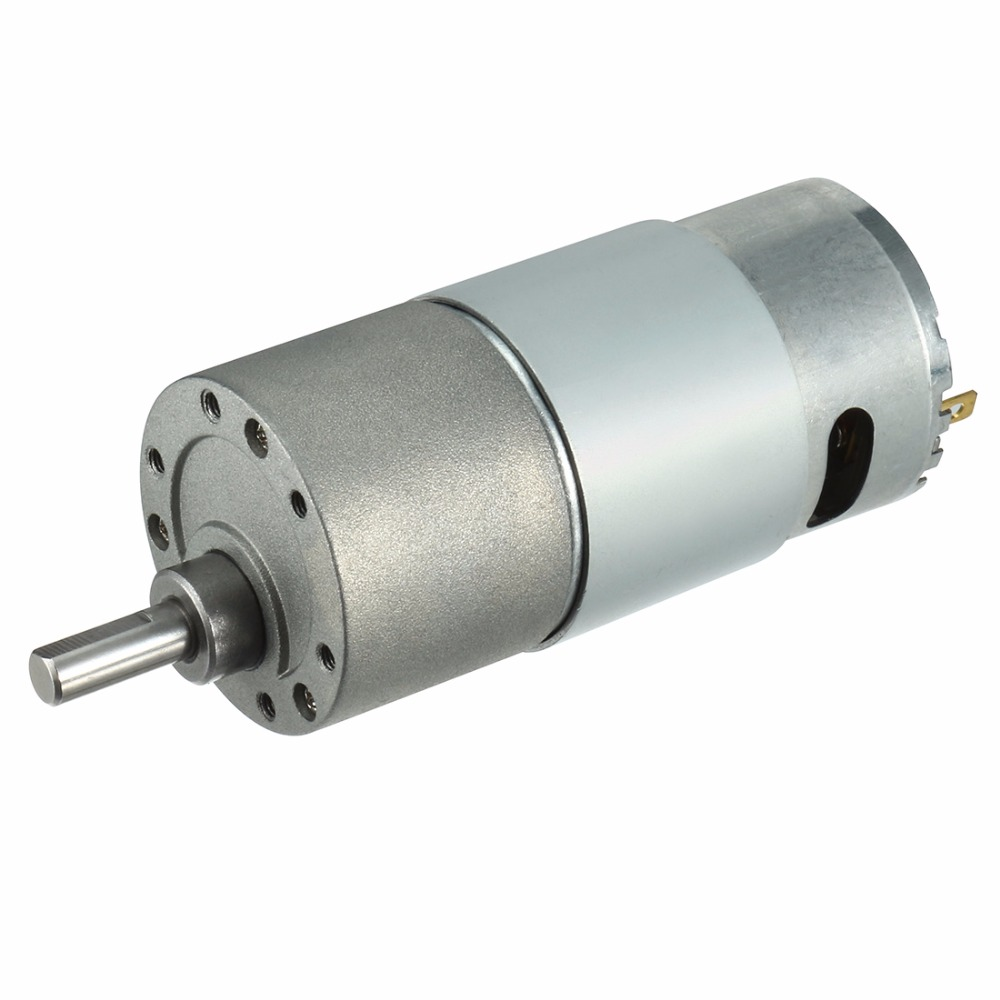 цена на Uxcell Hot DC12V 300RPM Electric Gear Box Motor Speed Reducer Geared Motor 6mm Shaft 2 Terminals Connectors Machine Replacement