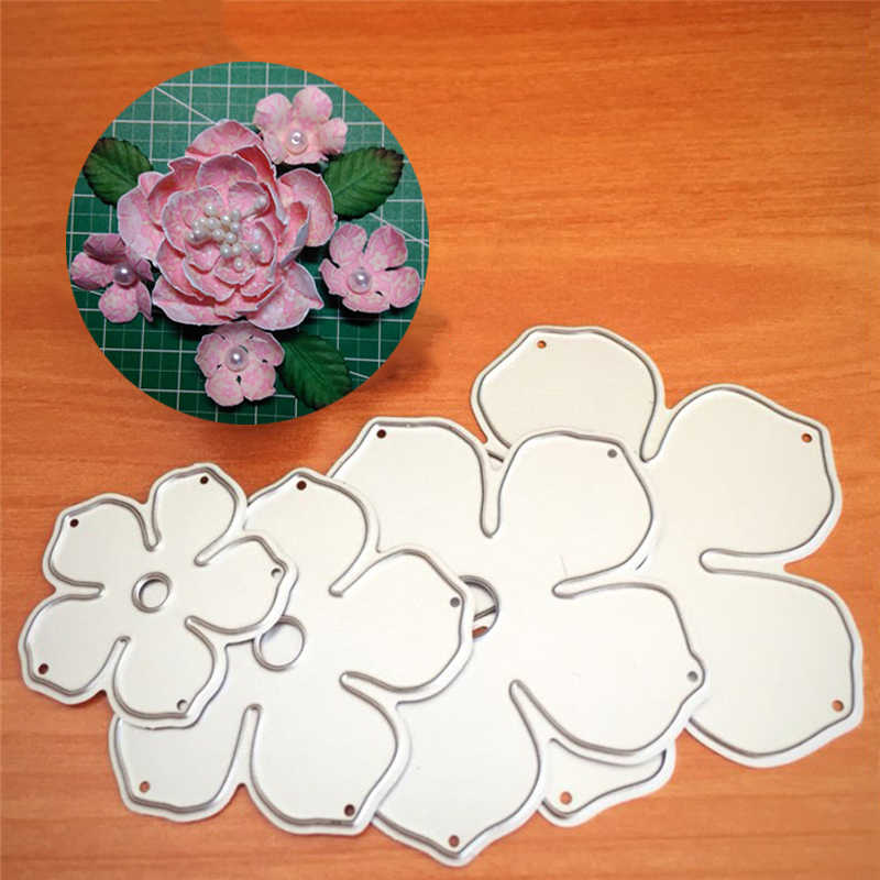 Leaf & Rose Flowers Metal Cutting Dies for DIY Scrapbooking Stamps Photo Album Embossing Folders Paper Cards Making Crafts Dies