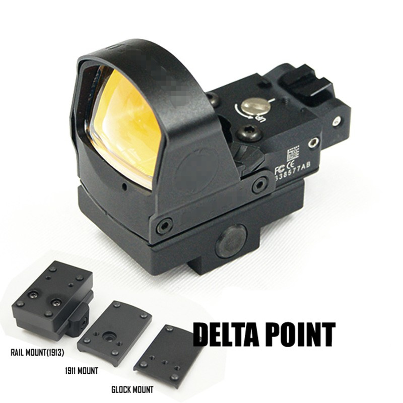 CQC Tactical Airsoft DP Pro Optic Reflex Red Dot Sight Scope QD Mount Hunting Pistol Rifle Scope Glock 1911 element larue tactical spr m4 scope mount qd