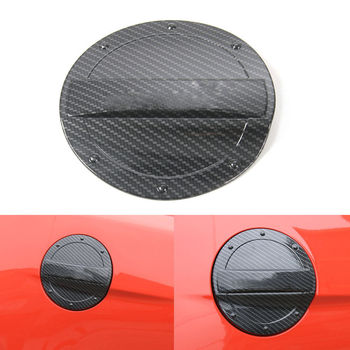 BBQ@FUKA 1pc ABS Black Car Fuel Tank Gas Cap Lid Cover Trim Car-styling Sticker Fit For Ford Mustang 2015 2016 Car accessories