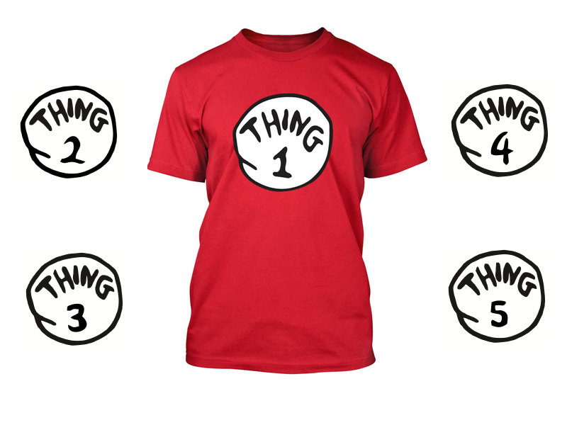 DR SEUSS THING ONE 1 2 3 4 5 T SHIRT ADULT   YOUTH   INFANT . THING 1 SHIRT-in  T-Shirts from Men s Clothing on Aliexpress.com  1c1f26978877