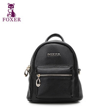 FOXER2016 new luxury fashion casual high-grade leather mini shoulder bag 100% high quality well-known brands of women