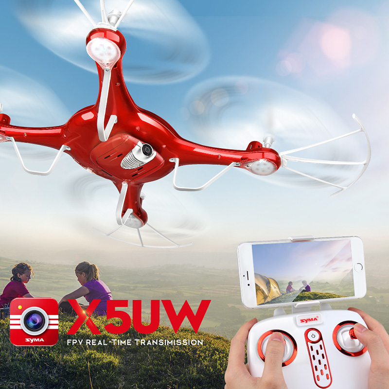 SYMA X5UW Selfie Drone 2.4G 4CH RC Helicopter With HD Camera FPV Wifi Realtime Transmission Quadcopter Adult Aircraft Toy syma rc quadcopter drone x5sw x5hw wifi fpv hd camera real time transmission 4ch 2 4g remote control helicopter rc drones toy
