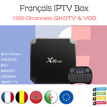 X96 Mini Android 7.1 TV Box with 1 year French Benelux Arabic Europe IPTV subscription 1600 Live 2000VOD neotv qhdtv Set top box