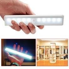 Espow 10 LED IR Infrared Motion sensor light Detector Wireless Sensor Closet
